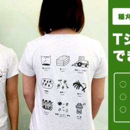 どろんこ会オリジナル「どろんこ米Tシャツ」完成!