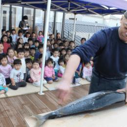 保育園で魚解体ショー!?板橋仲町どろんこ保育園が日経DUALに掲載