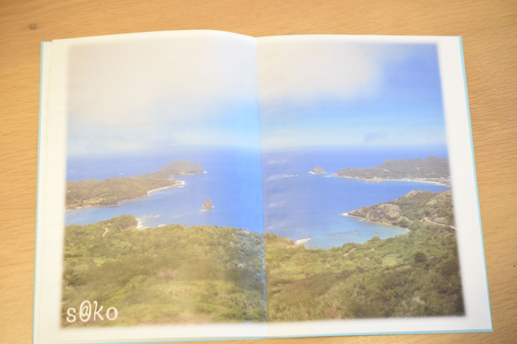 佐伊さんが撮影し作った小笠原諸島の冊子