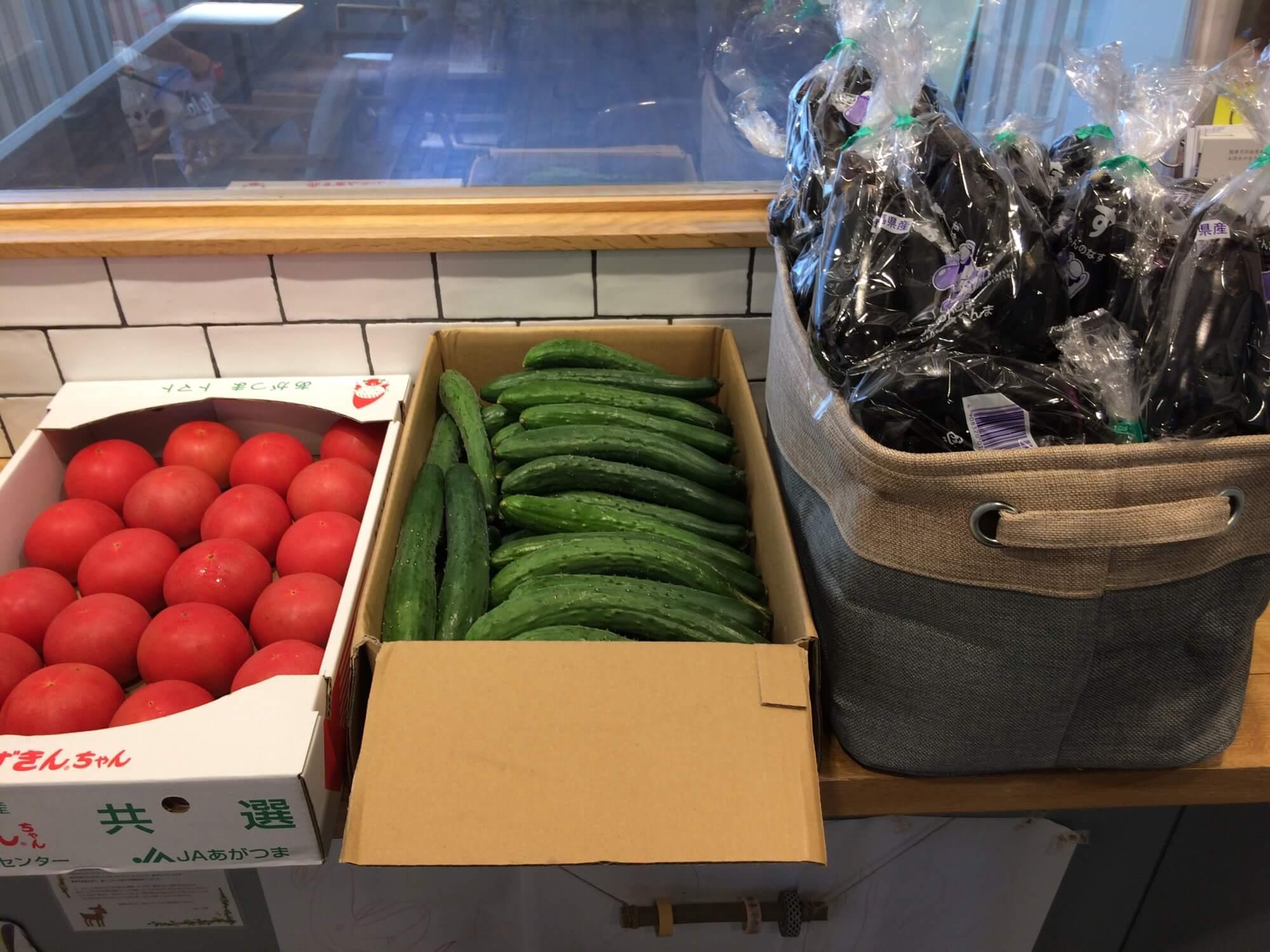 商店街でいただいた野菜