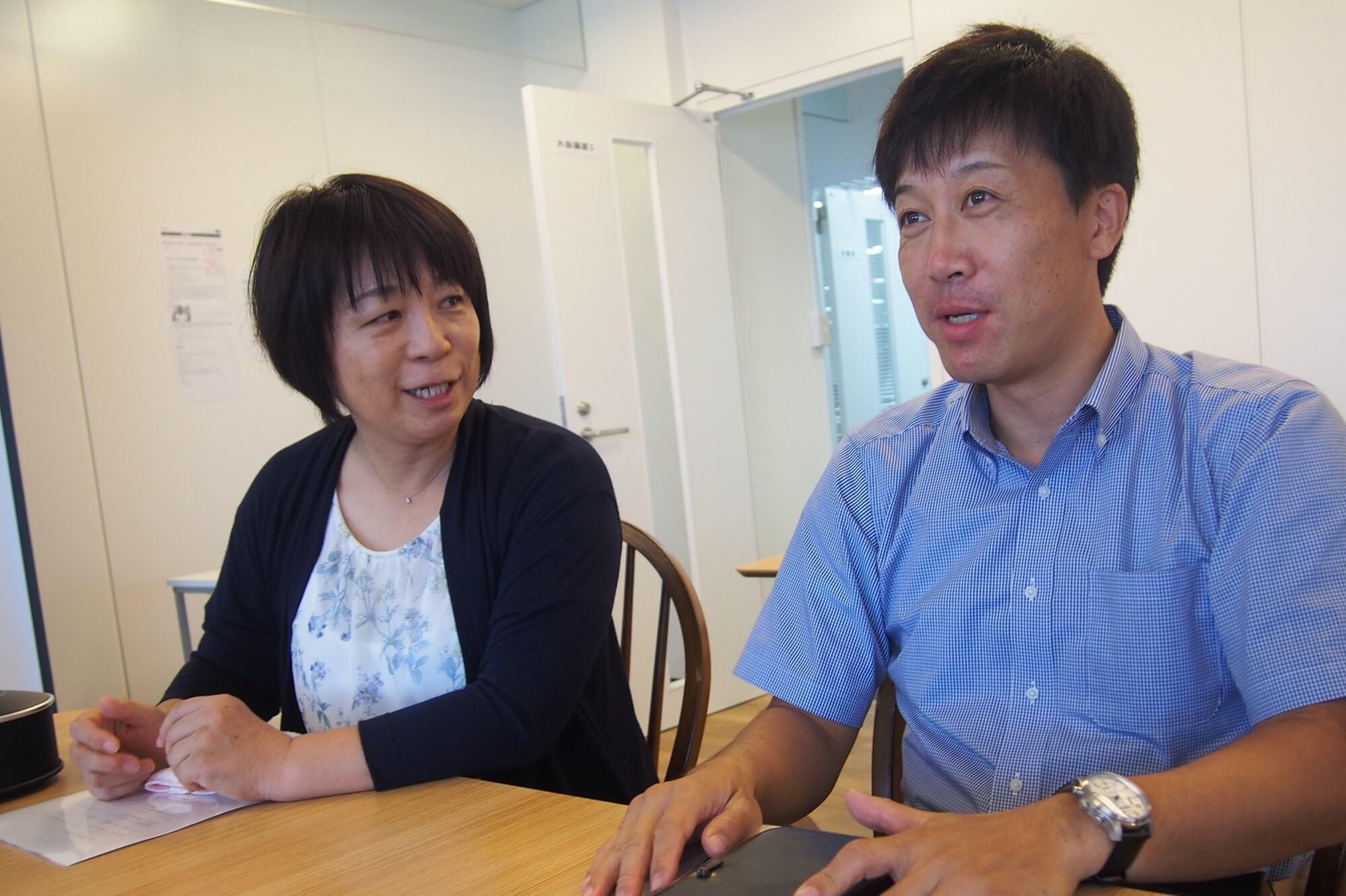 オンライン会議はいい取り組みですと語る北原園長(左)と遠藤園長(右)