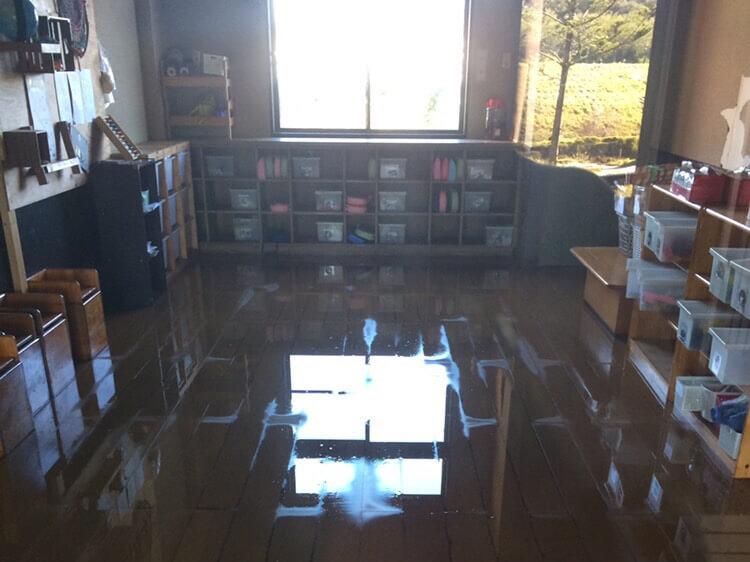 浸水した保育室