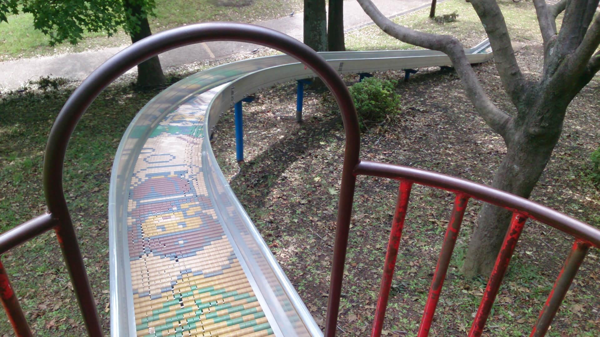岸根公園アスレチック滑り台