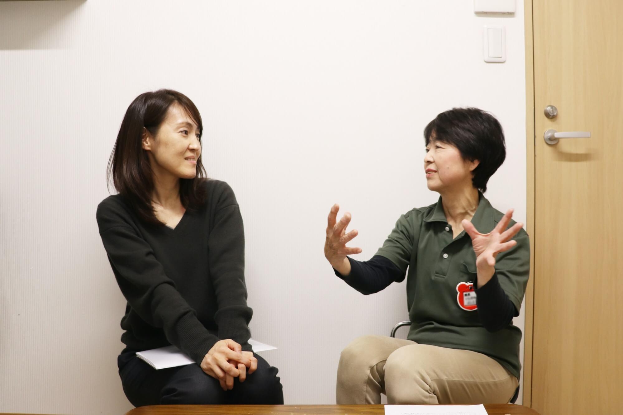 Bic Kidsについて語り合う根本さん(左)と石川園長(右)