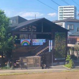 東武東上線の車内から撮影した仲町どろんこ保育園の虹