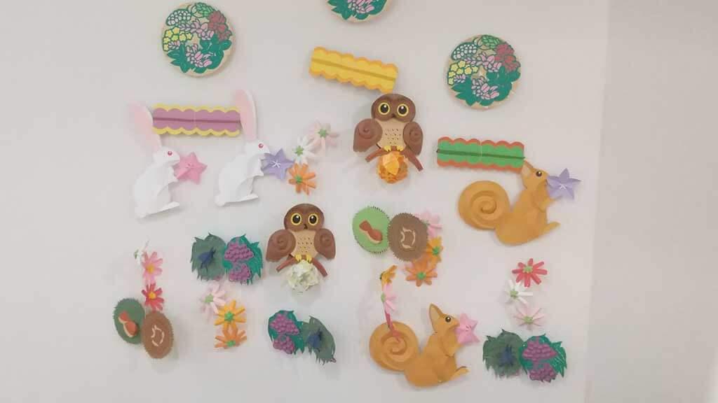 色々な動物の壁飾り