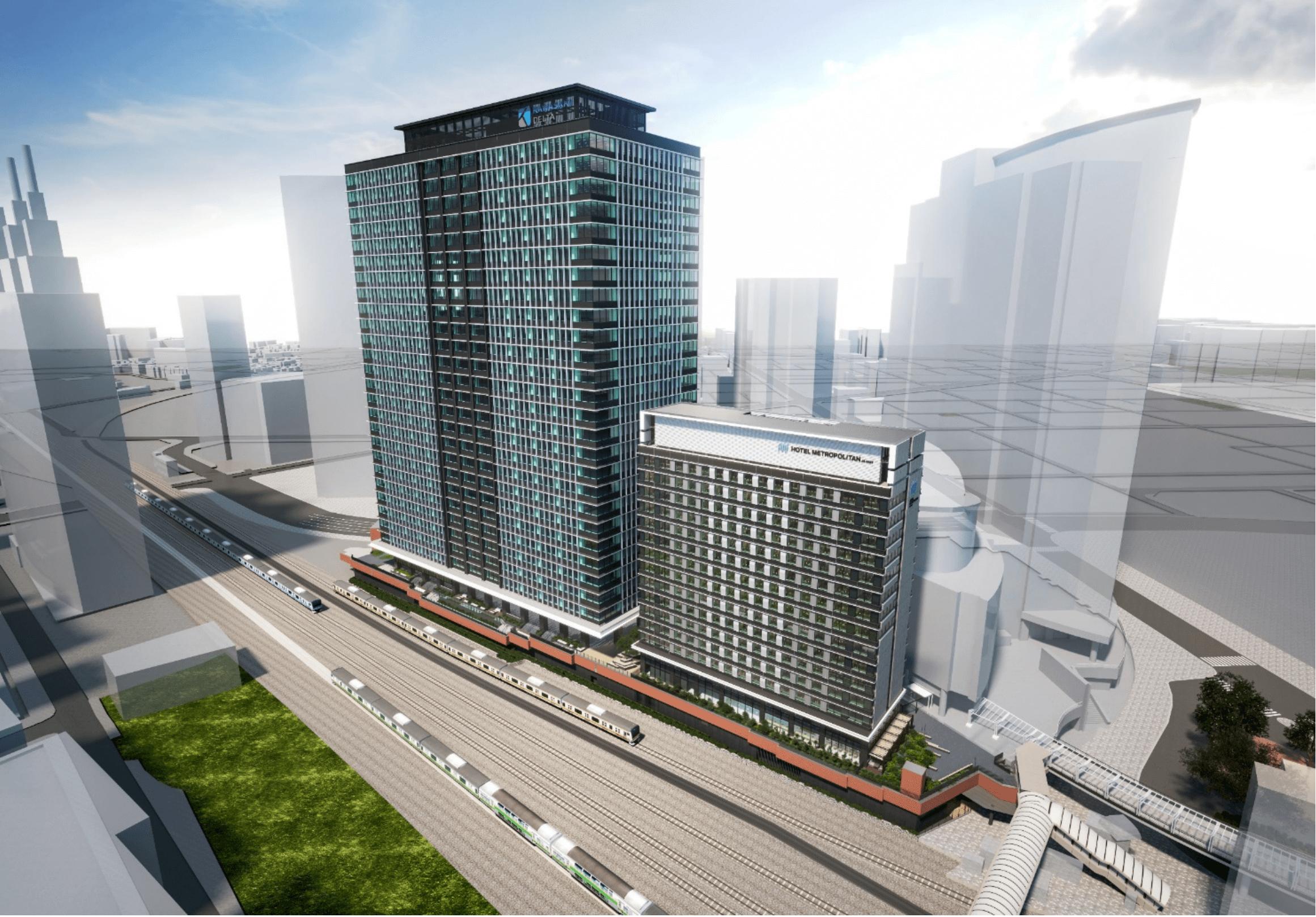 開発中の街区「KAWASAKI DELTA」完成イメージ。出展:JR東日本ニュースより