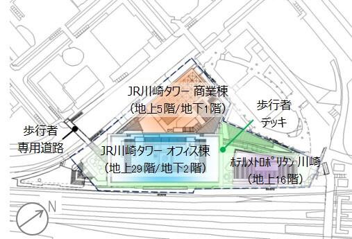 「KAWASAKI DELTA」の配置図