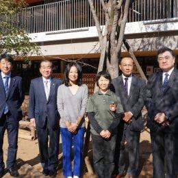 横浜市会議員が「発達支援つむぎ」併設予定の新羽どろんこ保育園を視察