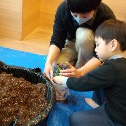 つむぎ桶川体験学習「寄せ植えをつくろう」