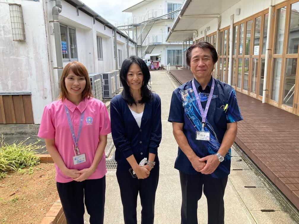 安永理事長と琉球リハビリテーション学院玉城総学院長