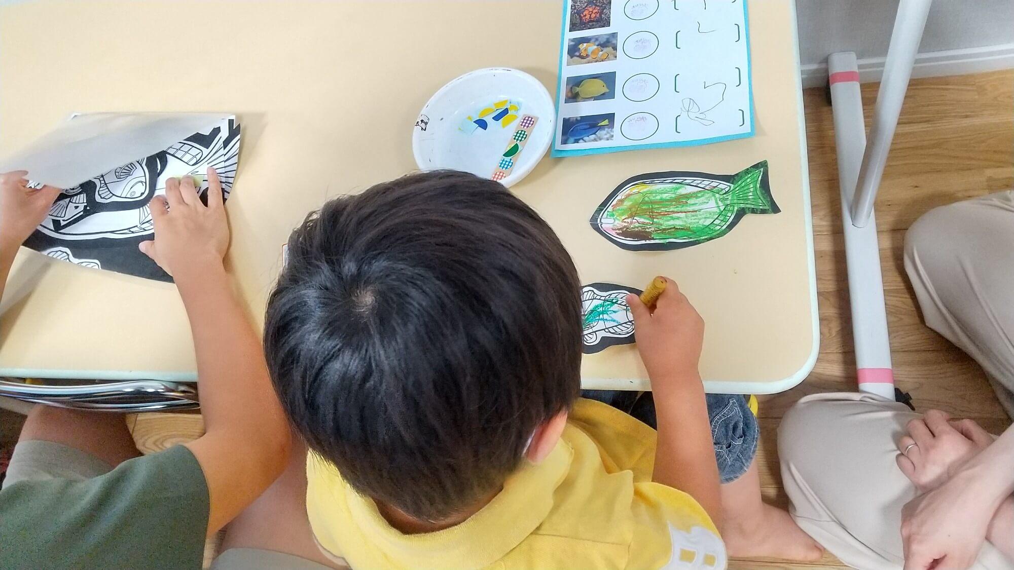 魚の塗り絵