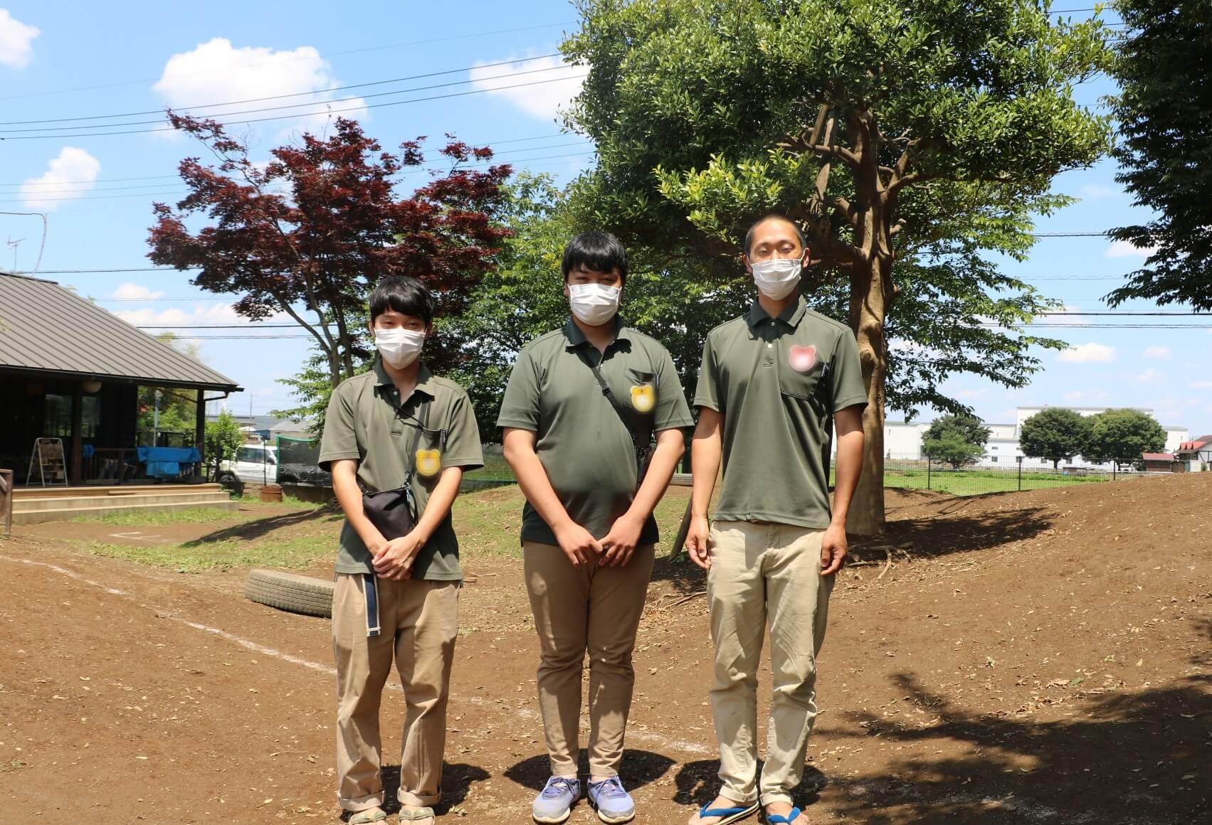 石塚さん、水智さん、宮園施設長