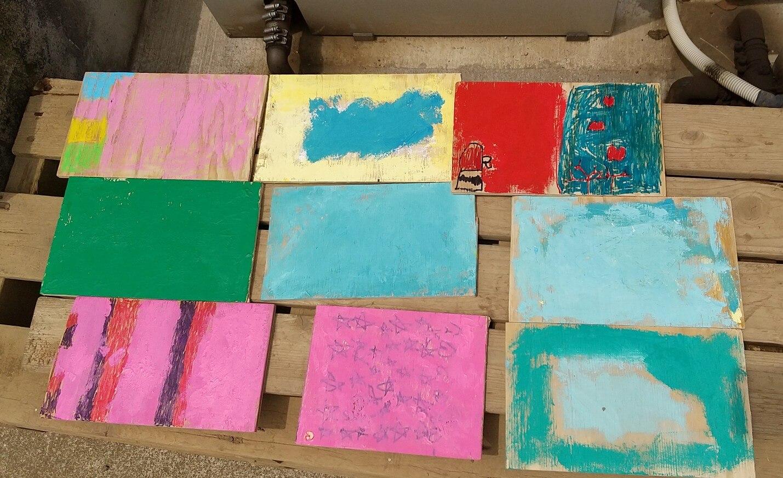 板一枚とっても多彩な色