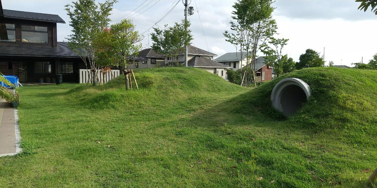 園庭の築山