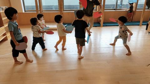 すずめ踊りの練習