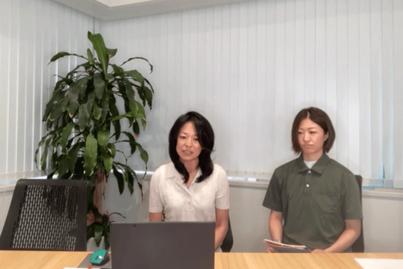 当日参加した安永理事長と駒沢どろんこ保育園の岩森施設長
